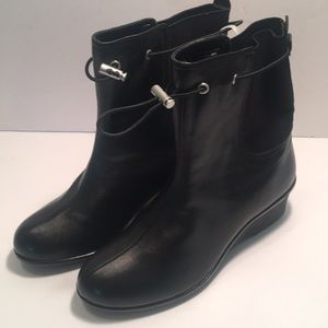 Taryn Rose Black Leather Boots